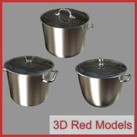 pots cook 3d model