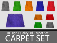3d carpet set model