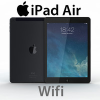 3d model realistic ipad air wifi