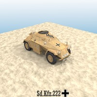 3d sd kfz 222 armoured car