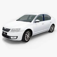 3d model vehicle skoda octavia 2013