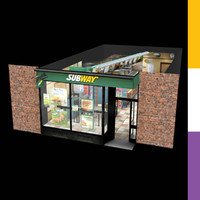 3d model of subway fast food restaurant