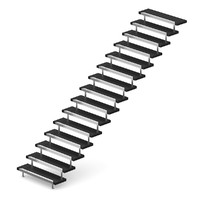 metal black stairs c4d