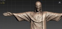 high-poly christ 3d obj