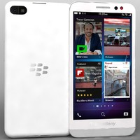 blackberry z30 white 3d model