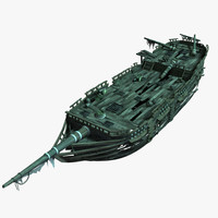 shipwreck ship wreck 3d model