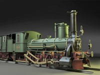 3d model of steam locomotive