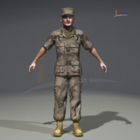 3d general man military model