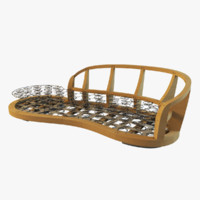 3d serpentine sofa frame model