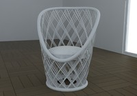 3d armchair pavo real model