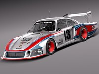 3d model germany porsche c 935-78