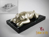 dog statue 3d model