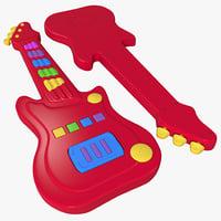 toy guitar 3d model