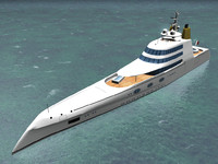 megayacht designed philippe 3d model