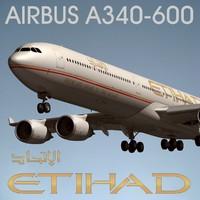 airbus a340 600 etihad max