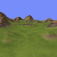 3d model of metay terrain km-01