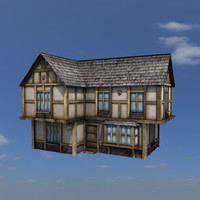 3d medieval house buildings model