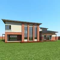 3d house designed professional model