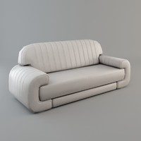 3d sofa white low-poly model