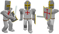 shield templar knight 3d 3ds