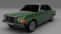 3d mercedes w123 model