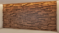 Lobby reception wood wall
