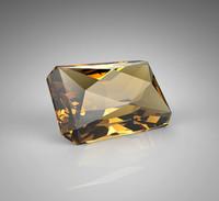 3d gem stone