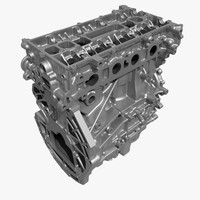 3d model engine block cylinder