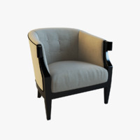 french upholstered chair 3d obj