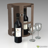 wine set case 3d model
