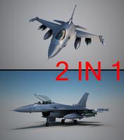 3d model pilot f16