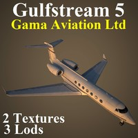 3d model of gulfstream 5 gma