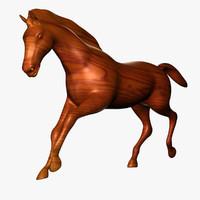 obj wooden horse