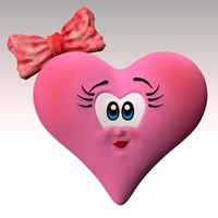 3d model cartoon heart