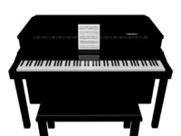 Black Home Piano