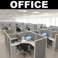 office modelled cubical 3d max