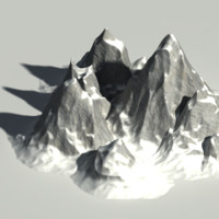 set mountain 3d model