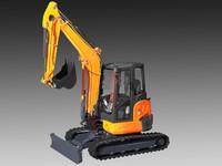 mini excavator kubota u48 3d model