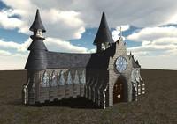 church medieval 3d model