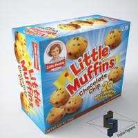 little debbie muffins 3d model