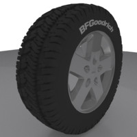 3d model jeep rim wheel tire