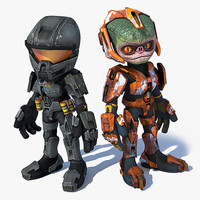 scifi troopers 3d model