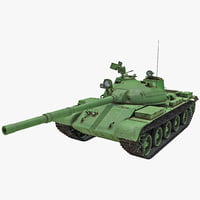 t-62 soviet main battle tank c4d