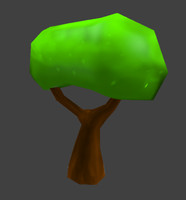 free cartoon tree 3d model