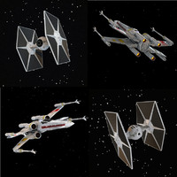 3d model ie figher x-wing