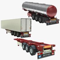 3d tank truck trailer