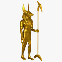 3d model anubis god statue