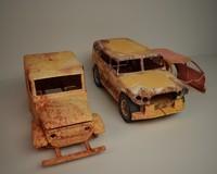 3d car junk model