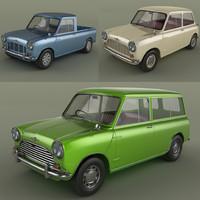 3d model morris mini cars