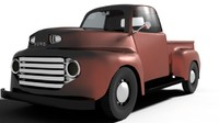 3d model pickup 1948 car